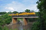 UP 4568 westbound UP loaded grain train